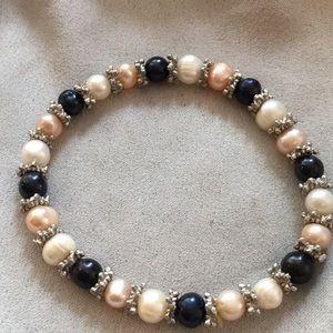 New Anthropologie real pearl snowflake bracelet
